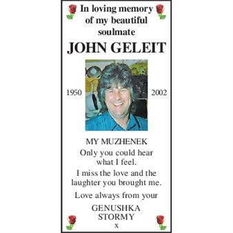 JOHN GELEIT