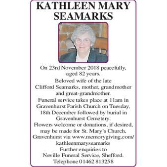 Kathleen Mary Seamarks