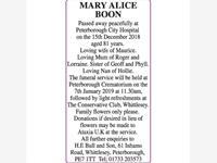 MARY ALICE BOON