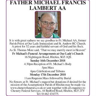 Father Michael Francis Lambert AA