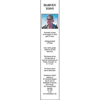 TONY HARVEY
