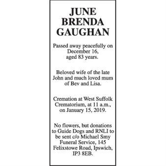 June Brenda Gaughan
