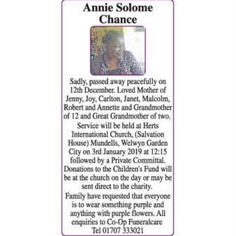 Annie  Chance