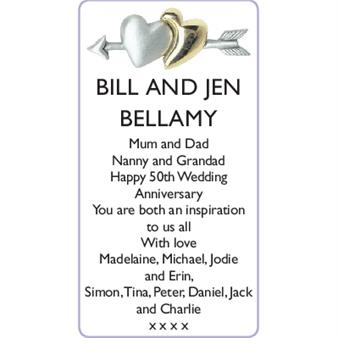 BILL and JEN BELLAMY