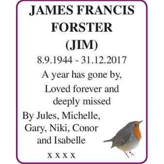 JAMES FRANCIS FORSTER (Jim)