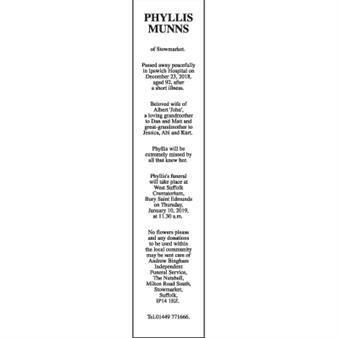 PHYLLIS MUNNS