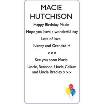 MACIE HUTCHISON