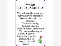BARBARA SHEILA WARD