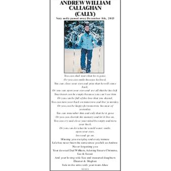 ANDREW WILLIAM CALLAGHAN (CALLY)