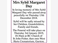 Mrs Sybil Margaret Day