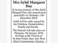Mrs Sybil Margaret Day