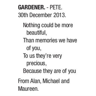 PETE GARDENER