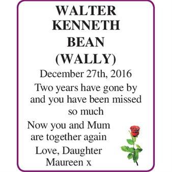 WALTER KENNETH BEAN (Wally)