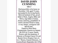 David John Cumming 'Mr C'