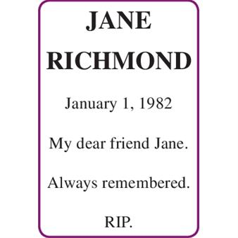 JANE RICHMOND