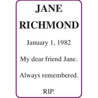 JANE RICHMOND