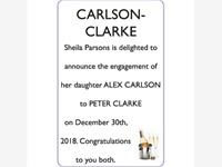 ALEX CARLSON and PETER CLARKE