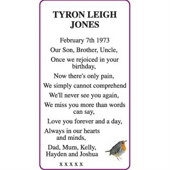 TYRON LEIGH JONES