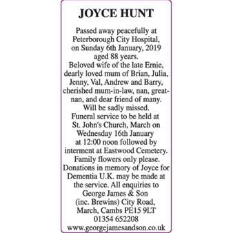 JOYCE HUNT