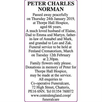 PETER CHARLES NORMAN