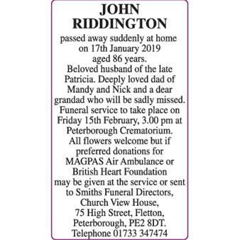 JOHN RIDDINGTON