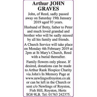 Arthur JOHN GRAVES