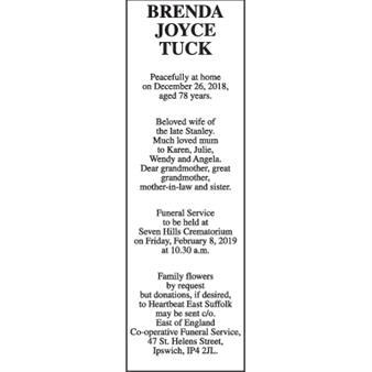 BRENDA JOYCE TUCK