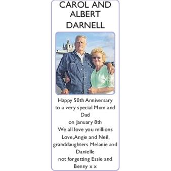 CAROL and ALBERT  DARNELL