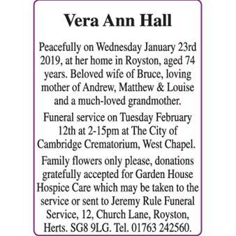 Vera Ann Hall