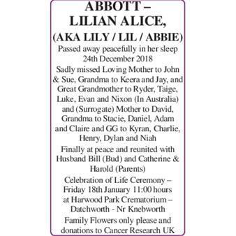 Lilian Alice Abbott