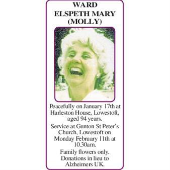 WARD ELSPETH MARY