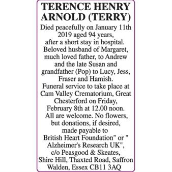TERENCE HENRY ARNOLD (TERRY)