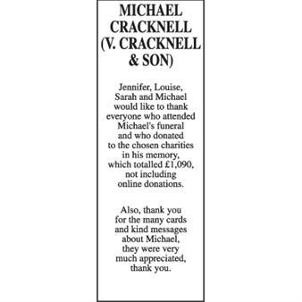 MICHAEL CRACKNELL (V. CRACKNELL AND SON)