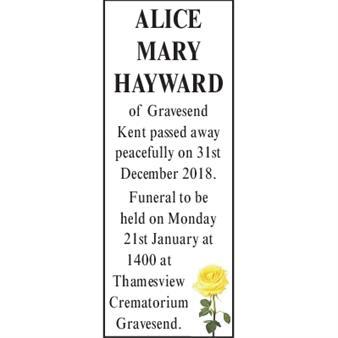 Alice Mary Hayward