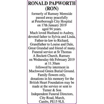 RONALD PAPWORTH