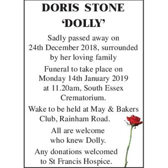 Doris Gladys Stone 'Dolly'