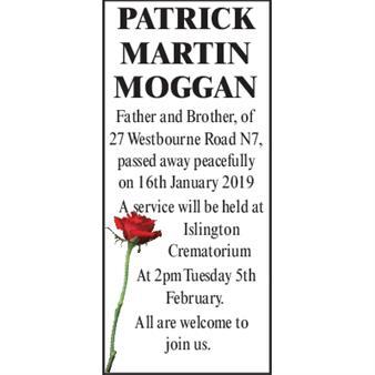 Patrick Martin Moggan