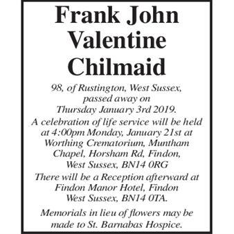 Frank John Valentine Chilmaid