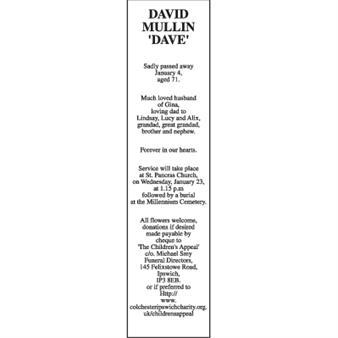 DAVID MULLIN 'DAVE'