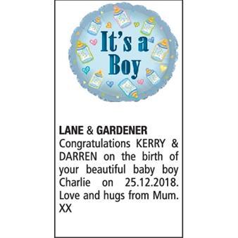Lane and Gardener