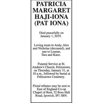 Patricia Margaret Haji-Iona (Pat Iona)
