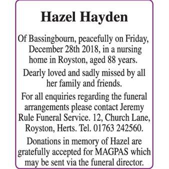 Hazel Hayden