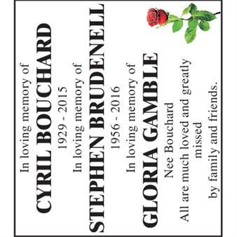 Cyril Bouchard Stephen Brudenell Gloria Gamble