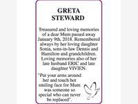 GRETA STEWARD