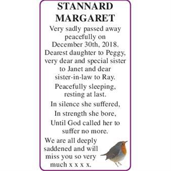 MARGARET STANNARD