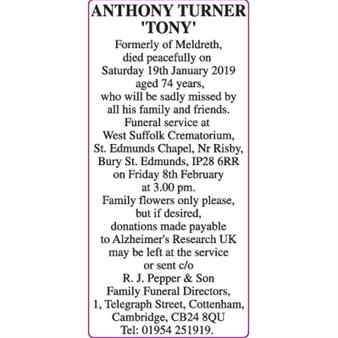 ANTHONY TURNER 'TONY'
