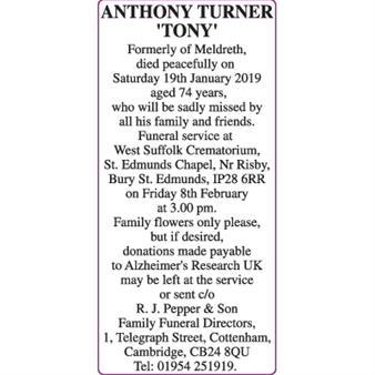 ANTHONY TURNER 'TONY'