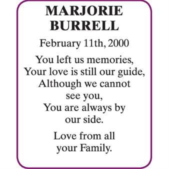 MARJORIE BURRELL