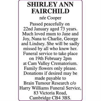 SHIRLEY ANN FAIRCHILD