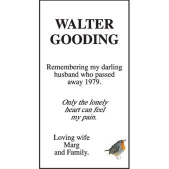 WALTER GOODING
